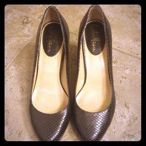 Cole Haan snakeskin heels